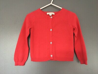 Marie Chantal Red Cotton Cardigan 24M