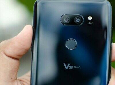 LG V35 THINQ 64GB Black GSM Unlocked for AT&T, T-Mobile