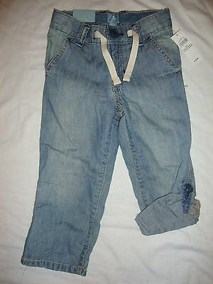 GAP roll-up summer jeans for a boy age 2 RRP 19.99 . thin denim NEW WITH TAGS