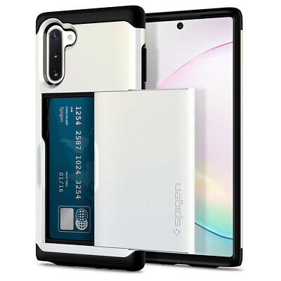Galaxy Note 10, 10 Plus/10 Plus 5G Case Spigen® [Slim Armor CS] Card Slot Cover