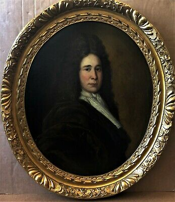 Very Fine Late 17Th Century Old Master Oil On Canvas Portrait Painting