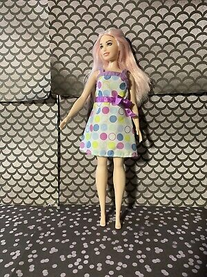CARE BEAR LONG SKIRT W// SLIT  for Barbie doll Stretches to fit Curvy dolls