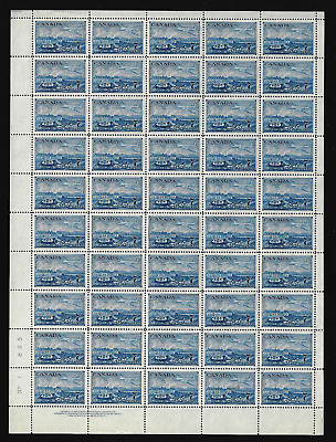 Canada — Full Pane of 50 — 1951, Stamp Centenary: Stagecoach & Plane #313 — MNH
