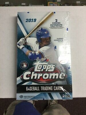 2019 Topps Chrome Baseball Factory Sealed Hobby Box 2 AUTOS 24 Packs