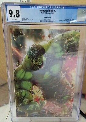 Immortal Hulk #7 (Variant Virgin Edit) Incredible Hulk Homage #724 Cgc 9.8 Nm/Mt