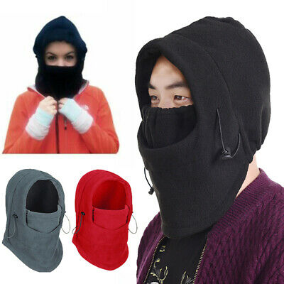 Men Women Winter Fleece Balaclava Hat Trooper Snow Ski Neck Face Mask Hood Cap