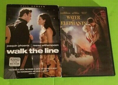 REESE WITHERSPOON - Lot of 2 DVDs - WALK THE LINE & WATER FOR ELEPHANTS