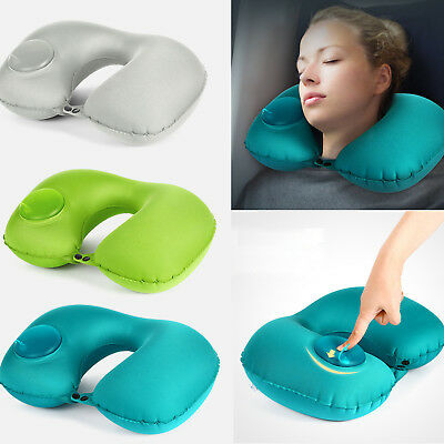 Inflatable U Shaped Travel Pillow Rest Cushion for Neck Support Head Rest