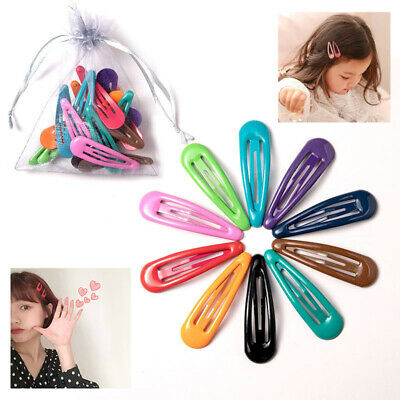 40Pcs Girls Bobby Pin Barrette Hairpin BB Snap Hair Clips Hair Accessories US-HA