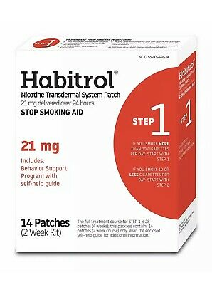 Habitrol Nicotine Transdermal System Stop Smoking Aid, Step 1 (21 mg), 14 Patch