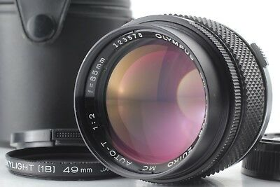 【 EXC+4 in CASE 】 OLYMPUS OM-SYSTEM ZUIKO 85mm F2 MC AUTO-T Lens from JAPAN #347