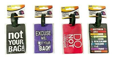 Travel Luggage Tag with Saying Baggage Suitcase Bag Identity Address Name Labels