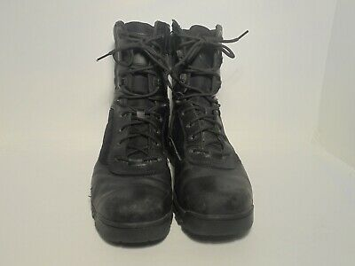 finest selection 7b707 9aa5d BATES MENS TACTICAL Black Leather Boots Size 10.5 M Side Zip Lace Up Ultra  Lite