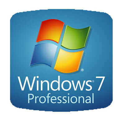 Windows 7 Professional 64 or 32 bit Full Version w SP1 DVD &  Product Key on COA