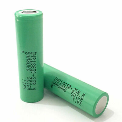 For Samsung 18650 2x2500mAh 25R Lithium Rechargeable Battery INR18650-25R VAP