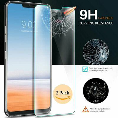 1/2x For LG G7 ThinQ Case-Friendly 9H Real Tempered Glass Screen Protector Yc
