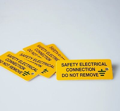 80 x 35mm SAFETY ELECTRICAL CONNECTION SELF ADHESIVE VINYL LABEL