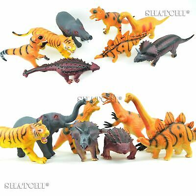 Large Soft Foam Rubber Stuffed Wild Animals Dinosaurs Toy Action Figures Sound