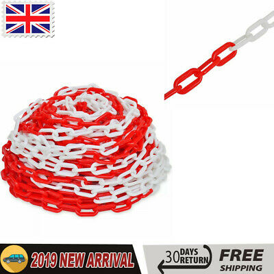 30m Plastic Warning Chain Security Bollards Warehouse Caution Safety Barrier
