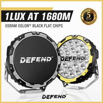 LIGHTFOX 9Inch Led Driving Lights Pair Round Spotlights Lamp Offroad 4WD Truck