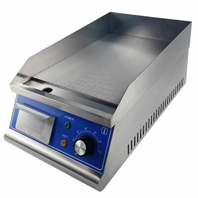 2000W Commercial Electric Griddle Hotplate Flat BBQ Grill Bacon Stainless Steel