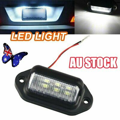 6 LED License Number Plate Light Lamps for Truck SUV Trailer Lorry 12/24V NW