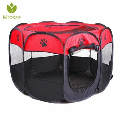 Dog Cage Breathable Folding Portable Pet Tent Outdoor Puppy Kennel Playpen Crate