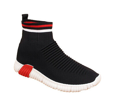 Ladies Womens Running Trainers Fitness Gym Sports Pumps Slip On Sock Shoes Size
