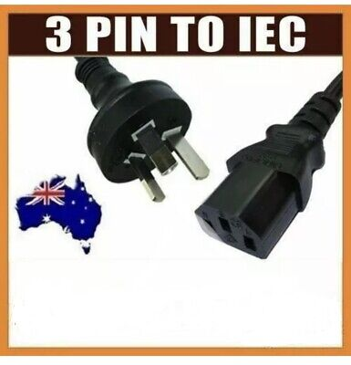 1.5M AU 3 Pin to IEC Kettle Cord Plug Aus 240V Power Cable Lead Cord PC PS3