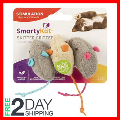 NEW Catnip Mice Cat Toys Skitter Critters US   3 Count