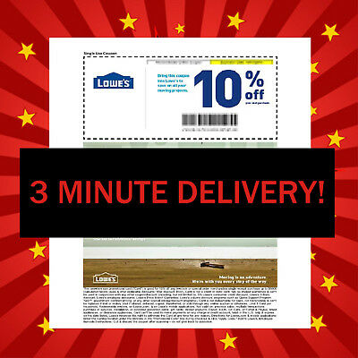 TWO 2X Lowes 10% OFF Coupons - Fastest - Best Service - Best Expiration +28 Days