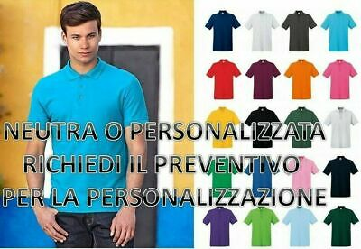 Polo Uomo In Cotone Manica Corta Premium Fruit Of The Loom personalizzabile