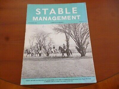 Stable Management June 1973 Graham Murrell Costains Farm Kent Horse Pony *Read*
