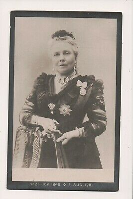 Vintage Postcard Victoria Empress Frederick of Germany Mourning Card
