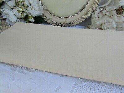 Antique French Huge Unbleached Never Used Metis Linen Panel. Fleur Blue Toile  1