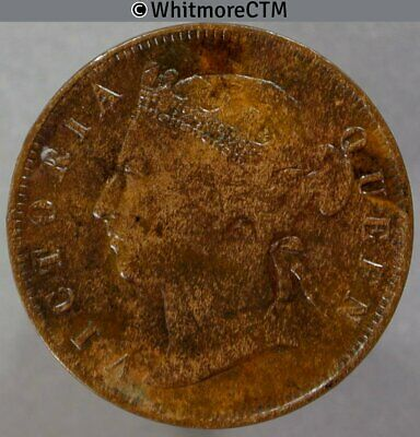 1884 Straits Settlements ½ Cent - Queen Victoria British Crown Colony