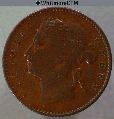 1899 Straits Settlements ¼ Cent - Queen Victoria British Crown Colony