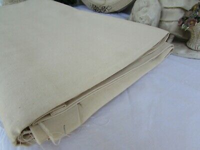 Antique French Huge Unbleached Never Used Metis Linen Panel. Fleur Blue Toile 3