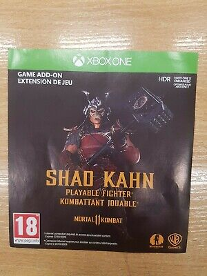 Mortal Kombat 11 Shao Kahn Playable Fighter DLC Mixrosoft xbox one code only