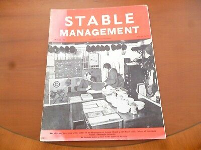 Stable Management February 1974 Department Of Animal Health Horse Pony *Read*
