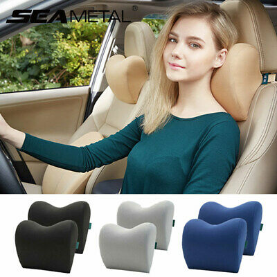 Travel Car Seat Headrest Neck Pillow Memory Foam Soft Head Neck Rest Cushion Pad