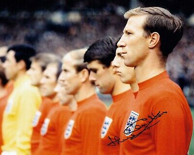 JACK CHARLTON ENGLAND 1966 WORLD CUP HAND SIGNED PHOTO AUTHENTIC + COA - 10x8