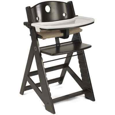 Keekaroo Height Right Kids Wooden High Chair w/ Tray! Espresso color