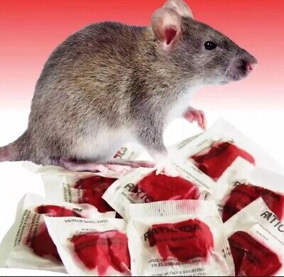 This Stuff Really Works 100 Packs Rat Mouse Rodent Poison Professional Grade New