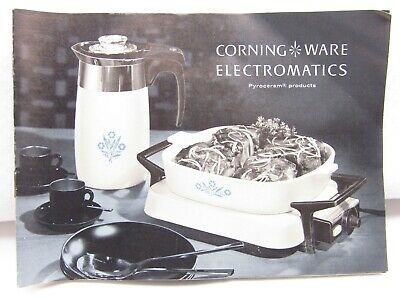 Vintage Corning Ware Electromatics Booklet With Recipes