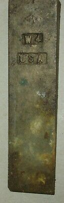 Vintage AMPCO W-4 Brass Sparkless Wedge 6 inches long 1-1/2 wide 3/4 thick