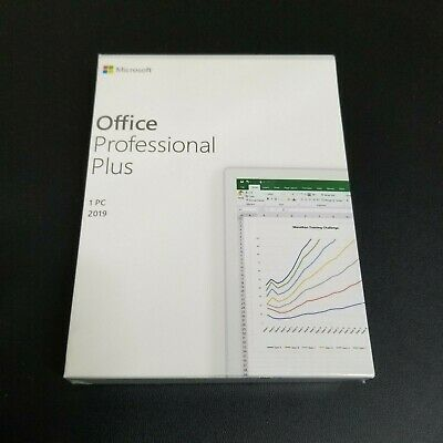 Microsoft Office 2019 Professional Plus Retail 1PC for Window 10 Medialess