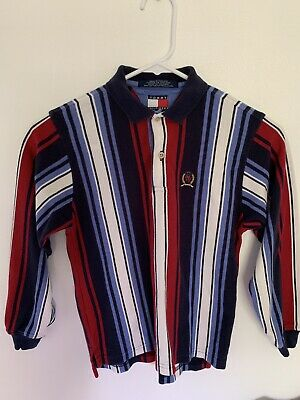 Kids/Boys/Youth Vintage 90s Tommy Hilfiger Striped Colorblock Polo Shirt