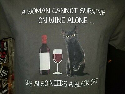a woman cannot survive on wine alone she also needs a cat Tote bag ee248r