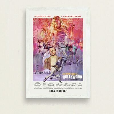 Once Upon a Time in Hollywood Original Movie Poster With Different Custom Sizes